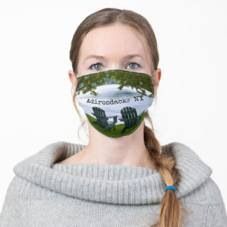 Adirondacks NY Lake Travel Photography Adult Cloth Face Mask