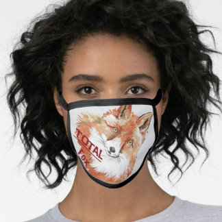 Adorable Foxy Totally Fox Wildlife Red Fox Kits Face Mask