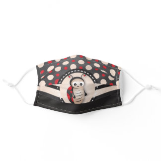 Adorable Ladybug Red and Black Polka Dot Adult Cloth Face Mask