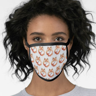 Adorable Red Fox Pattern Painting Wildlife Kits Face Mask