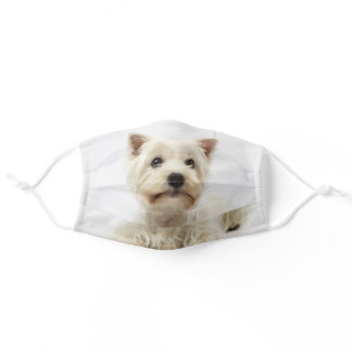 Adorable White West Highland Terrier Adult Cloth Face Mask