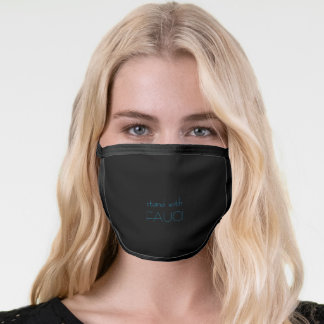 Adult Black All Over Cotton & Poly Blend Face mask