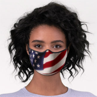 Adult Premium Face Mask - The American flag