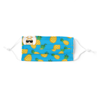 AEW Pineapple Pete Adult Cloth Face Mask