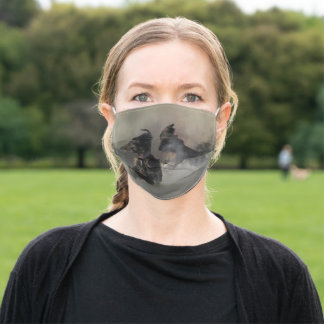 Afghan Hound Cloth Face Mask