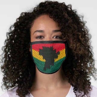 Africa Colors Map Artisan Crochet All Over Print Face Mask