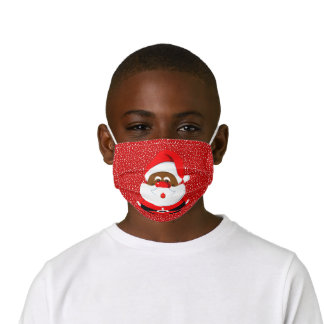 African-American Santa Claus Christmas holiday red Kids' Cloth Face Mask