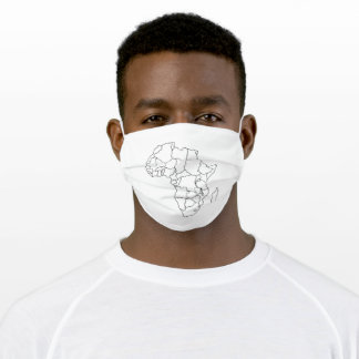 african continent adult cloth face mask
