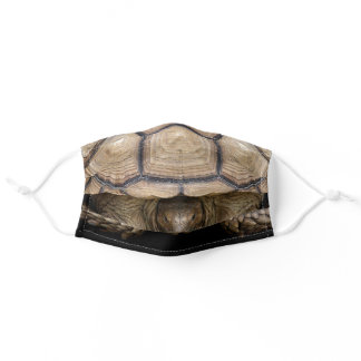African spurred tortoise adult cloth face mask
