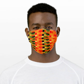 African Style Kente Cloth Geometric Pattern Adult Cloth Face Mask