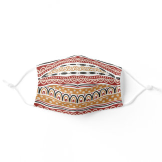 African Tribal Stripe Pattern Adult Cloth Face Mask