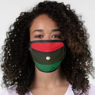 Afrocentric Colors Artisan Crochet All Over Print Face Mask