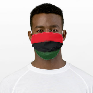 Afrocentric RBG Flag Adult Cloth Face Mask
