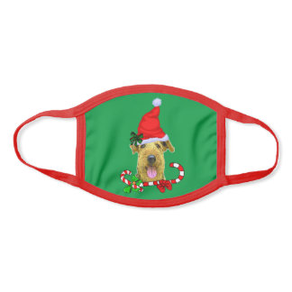 Airedale Terrier Christmas Face Mask