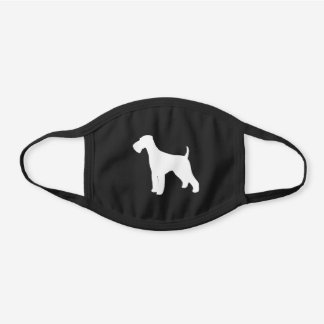 Airedale Terrier Dog Breed Silhouette Black Cotton Face Mask