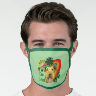 Airedale Terrier St. Patricks Day Face Mask