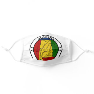 Alabama State Seal Flag USA White Adult Cloth Face Mask