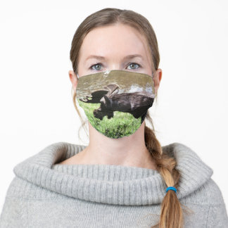 Alaskan Bull Moose Outdoor Scenic Photo Designed Adult Cloth Face Mask