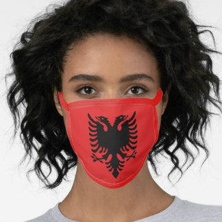 Albania & Albanian Flag Mask - fashion/sports fans