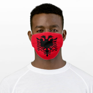 Albania flag facial mask