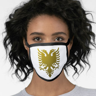 Albanian coat of arms face mask