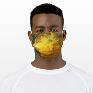 Albert Bierstadt Light in the Forest Poster Adult Cloth Face Mask