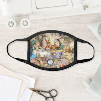 Alice in Wonderland tea party characters Face Mask