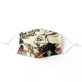 Alice in Wonderland White Rabbit Classic Adult Cloth Face Mask