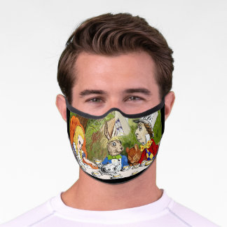 Alice's Adventures in Wonderland Premium Face Mask