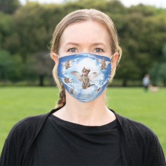All Cats Go to Heaven Adult Cloth Face Mask