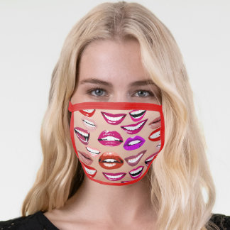 All Kinds of Lips Smile Mouth White Teeth Pattern Face Mask