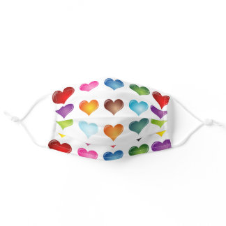 All Over Colorful Hearts Comfortable Face Mask