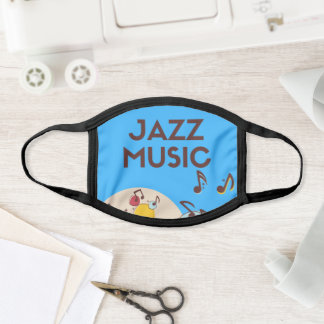All-Over Print Face Mask Jazz Music