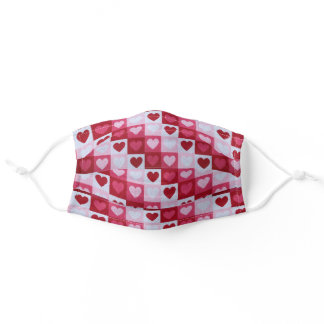 All Over Red Hearts Comfortable Face Mask