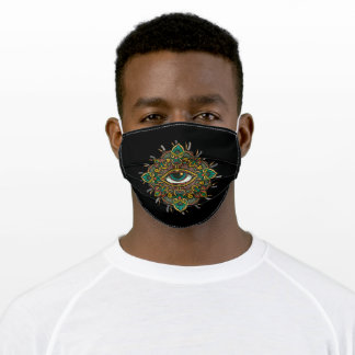 All seeing eye flower adult cloth face mask
