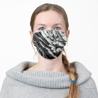 Almost zebra - pouring paint. adult cloth face mask