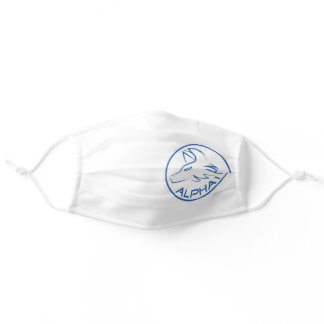 Alpha1 White Adult Cloth Face Mask
