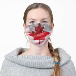 American and Canadian flags Adult Cloth Face Mask