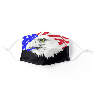 AMERICAN EAGLE GOD BLESS THE USA ADULT CLOTH FACE MASK