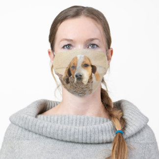 American English Coonhound Painting - Dog Art Adult Cloth Face Mask