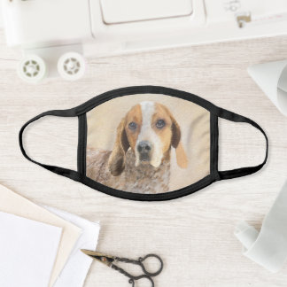 American English Coonhound Painting - Dog Art Face Mask