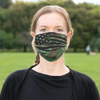 American flag Camouflage Adult Cloth Face Mask