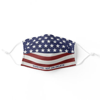 American Flag Inspired Red White Blue USA Custom Adult Cloth Face Mask