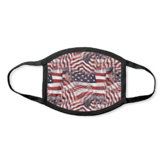 American Flag Red White Blue Stripes Stars Pattern Face Mask
