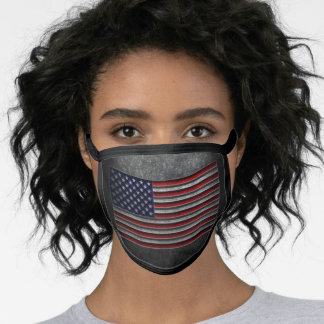 American Flag Stone Texture Face Mask