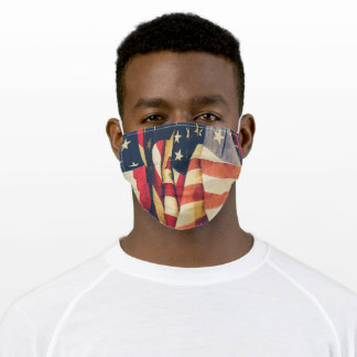 American Flags Adult Cloth Face Mask