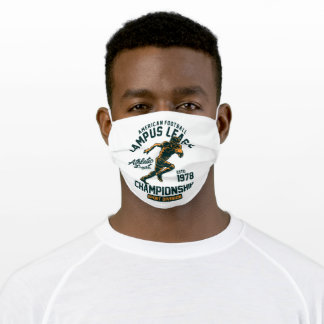 American football adult cloth face mask