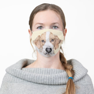 American Foxhound Painting - Cute Original Dog Art Adult Cloth Face Mask
