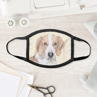 American Foxhound Painting - Cute Original Dog Art Face Mask