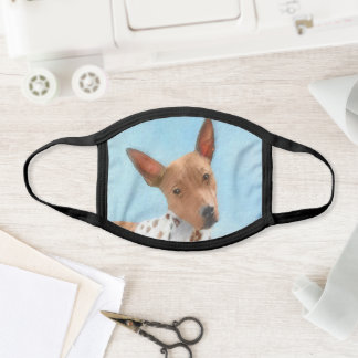 American Hairless Terrier Painting - Dog Art Face Mask